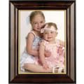 Walnut and Black Wood 8in. x 10in. Picture Frame - Gold Line