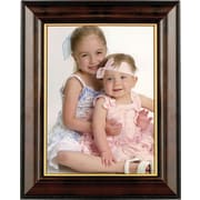 "Walnut and Black Wood 8"" x 10"" Picture Frame - Gold Line"