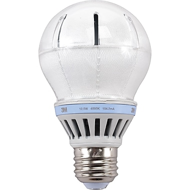 3M™ A-19 LED Light Bulb, Cool White, Dimmable