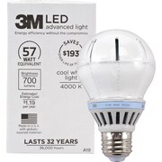 3M™ A-19 LED Flood Light Bulb, Cool White, Dimmable