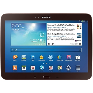Samsung Galaxy Tab 3 16GB 10.1 P5210 Wi-Fi Android Tablet PC, Gold/Brown