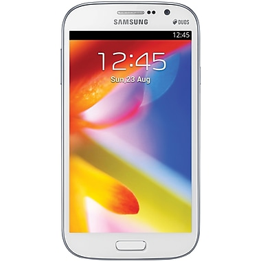Samsung Galaxy Grand DUOS I9082 Unlocked GSM Dual-SIM Android Phone, White