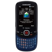 Samsung Elevate T356 Unlocked GSM Slider Cell Phone, Blue/Black