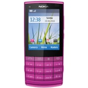 Nokia X3-02 Touch-and-Type Unlocked GSM Cell Phone, Pink