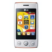 LG Cookie Lite T300 Unlocked GSM Touchscreen Cell Phone, White/Orange
