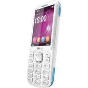 BLU Jenny TV 2.8 T276T Unlocked GSM Dual-SIM Cell Phone - White/Blue