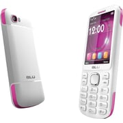 BLU Jenny TV 2.8 T176T Unlocked GSM Dual-SIM Cell Phone, White/Pink