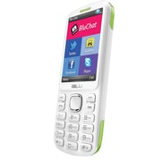 BLU Jenny TV 2.8 T1762T Unlocked GSM Dual-SIM Cell Phone, White/Lime