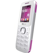 BLU Zoey T176 Unlocked GSM Dual-SIM Cell Phone, White/Pink