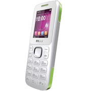 BLU Zoey T176 Unlocked GSM Dual-SIM Cell Phone, White/Green