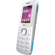 BLU Zoey T176 Unlocked GSM Dual-SIM Cell Phone, White/Blue