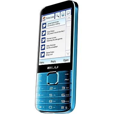 BLU Diva X T372T Unlocked GSM Dual-SIM Cell Phone, Blue