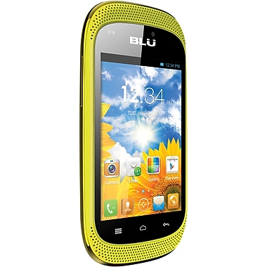 BLU Dash Music D172a Unlocked GSM Dual-SIM Android Cell Phone, Yellow