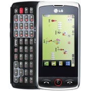 LG Breeze GW525 Unlocked GSM Slider Cell Phone, Silver/Black