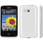 LG Optimus Hub E510g Unlocked GSM Android Cell Phone, White