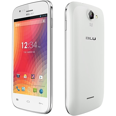 BLU Advance 4.0 A270a Unlocked GSM Dual-SIM Android Cell Phone, White