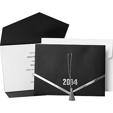Great Papers® Grad Hat Folder w/ Tassels Invitation Kit, 20/Pack