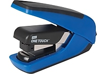 Staples® One-Touch™ CX-4 Compact Flat-Stack Quarter Strip Stapler, 20 Sheet Capacity, Blue
