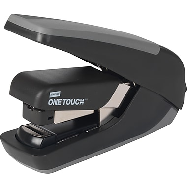 Staples® One-Touch™ CX-4 Compact Flat-Stack Quarter Strip Stapler, 20 Sheet Capacity, Black
