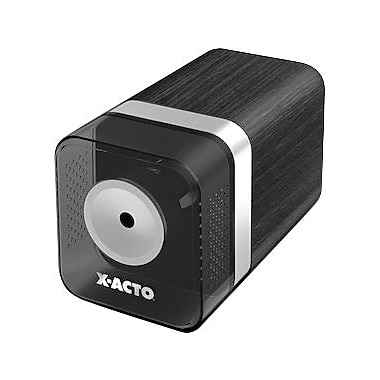 X-ACTO Heavy-Duty Desktop Electric Pencil And Crayon Sharpener, Walnut Grain
