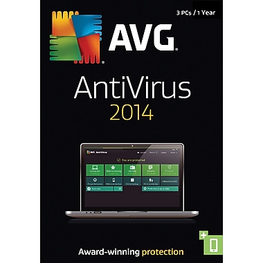 AVG AntiVirus 2014, 1 Year (3 User) [Boxed]