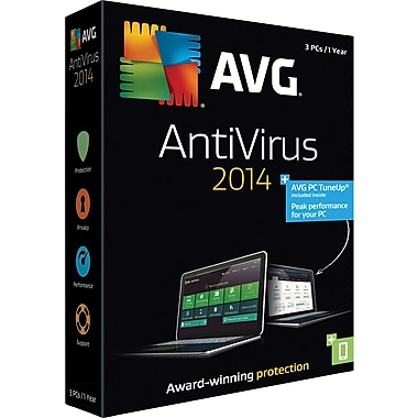 AVG AntiVirus + PC TuneUp 2014, 1 Year (3 User) [Boxed]