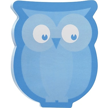 Post-it® Owl-Shaped Die-Cut Memo Cube, 2 Pads/Pack