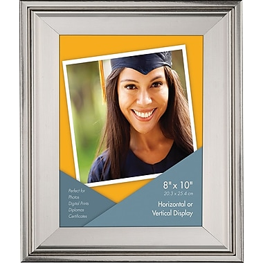 8in. x 10in. Beveled Frame, Metallic Silver