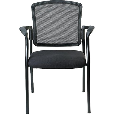 Raynor Eurotech Dakota 2 Vinyl/Mesh Guest Chair, Black