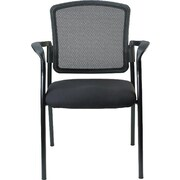 Raynor Eurotech Dakota 2 Steel Guest Chair, Black (7011-BLK)