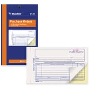 "Blueline® Purchase Order Form, DC01, Duplicates, Carbonless, Staple Bound, 4-1/4"" x 7"", English"