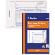 "Blueline® Purchase Order Form, DC62, Triplicates, Carbonless, Staple Bound, 5-3/8"" x 8"", English"