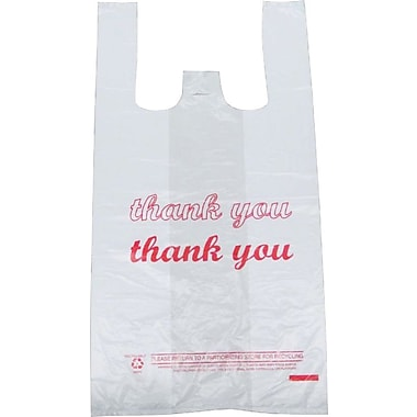 Plastic T-Shirt Bag, in.Thank Youin. printed, Small, 3,000/Pack