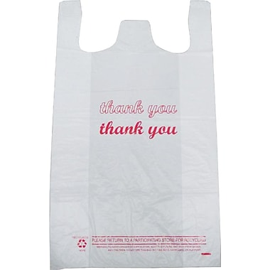 Plastic T-Shirt Bag, in.Thank Youin. printed, Large, 500/Pack