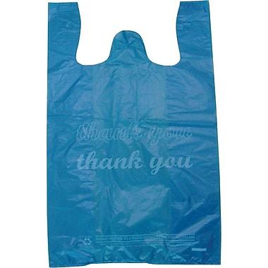 M2C Plastic 21in.H x 11.5in.W x 6in.D Shopping Bags, Blue, 1000/Pack