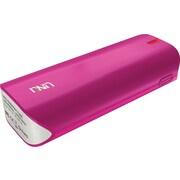UNU 5000 mAh Enerpak Tube External Battery Pack with Emergency Flash Light for Smartphones Tablets, Pink