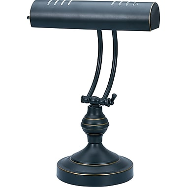 V-Light CFL Piano Lamp, Black and Antique Brass