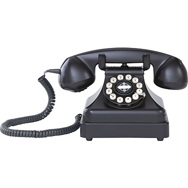 Crosley Kettle CR62 Classic Desk Phone, Black