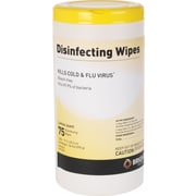 Brighton Professional™ Disinfecting Wipes, Lemon Scent, 75 Wipes/Tub