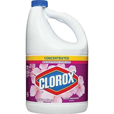 Clorox Concentrated Liquid Bleach, Fresh Meadow, 121 oz.
