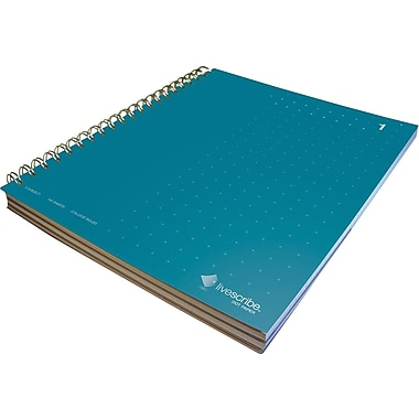 livescribe™ Notebook, #1 Three-Subject, Blue
