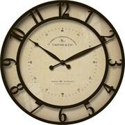 "FirsTime® Kensington Whisper 18"" Round Wall Clock, Bronze"