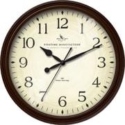 "FirsTime® Avery Whisper 20"" Round Wall Clock, Bronze"