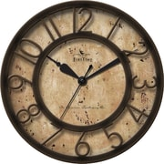 "FirsTime® Bronze Raised Number 8"" Round Wall Clock, Bronze"