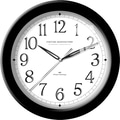FirsTime® Black Whisper 11in. Round Wall Clock, Black
