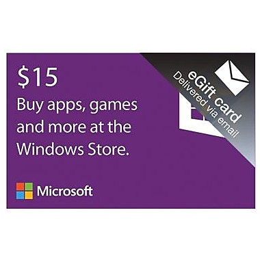 Microsoft Windows Store Gift Card $15 for Windows (1 User) [Download]