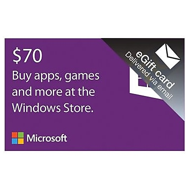 Microsoft Windows Store Gift Card $70 for Windows (1 User) [Download]