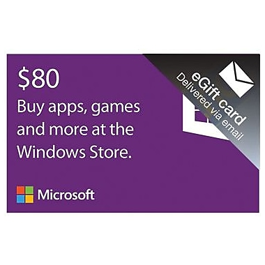 Microsoft Windows Store Gift Card $80 for Windows (1 User) [Download]