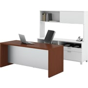Bestar Pro-Linea Executive Kit, White/Cognac Cherry