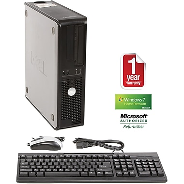 Refurbished Dell Optiplex GX745, 160GB Hard Drive, 2GB Memory, Intel Pentium, Win 7 Home